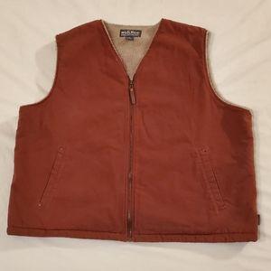 Woolrich Zip Up Vest Sherpa Lined XXL (2XL) Canvas